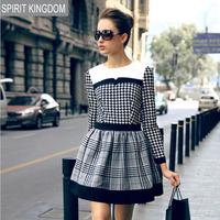 2014 new European new female plover big star autumn and winter dress women dresses leisure dresses women LS560