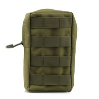 Tactical MOLLE/PALS Modular Utility Pouch Magazine Mag Accessory Medic Tool Bag Army Green