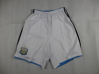 Top Thai version of the 2014 new Argentina home white pants thail quality Free Shipping 2014 Argentina Home Shorts White