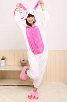 Japan fleece Kawaii Kigurumi Animal Pajamas Costume cosplay lovely rabbit Autumn and winter Siamese pajamas by0001 Love Rabbit