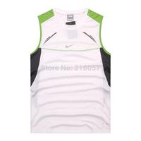 Sweat dry men's Vest T-shirt polyester fiber slip motion sleeveless blouse