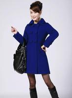 Wool Coat season lady's coat big yards in the women's long trench coat