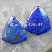 (Min.order 20$ mix)Free shipping (2 piese/lot) 45x40x6mm Lapis Lazuli Pendant Bead R1424