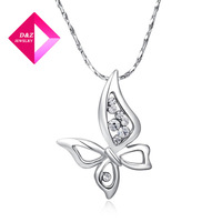 New Silver  Four wings of a butterfly necklace ,fashion pendant necklace on sale,necklace serices