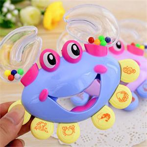 New 2014 CL Enlightenment Baby Rattles Mobiles Toy Developmental Crab Shape Rattles for Babies Handbell LC(China (Mainland))