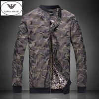 Free shiping ! 2014 new men's clothing Fashion brand design New winter coat Simple camouflage stand collar jacket