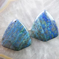 (Min.order 20$ mix)Free shipping (2 piese/lot) 45x40x6mm Lapis Lazuli with Chrysocolla Pendant Bead R1446
