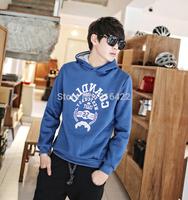 Hot sale 2014 new Men's Fashion Large yard Hedging Hooded Sweater Winter Fleece Winter Plus velvet coat free shipping   A696