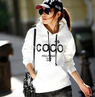 Hot sale 2014 New Fashion CC Hip-Hop Print Street Fleece Sweatshirt women's fleece jackets free shipping A697