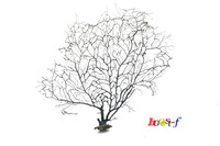20cm black sea fan fish tank aquarium decoration, sea coral ornament TR-01