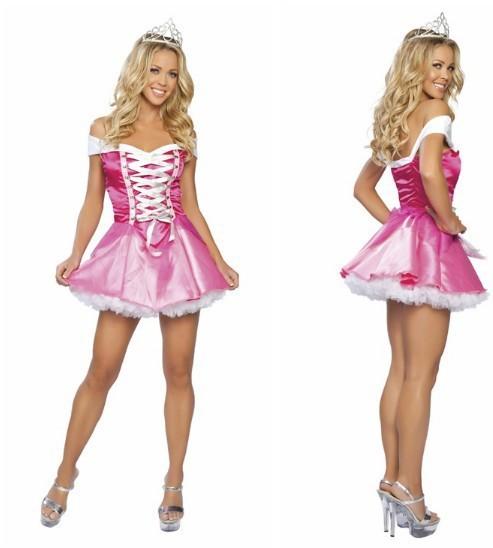 New-Women-s-Sexy-Christmas-fairy-tale-princess-princess-dress-pink