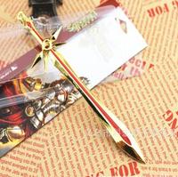 League of Legends Delicate Zine Alloy Model Leona The Radiant Dawn Weapon Sword 15CM Metal Pendant Key Ring Key-chain WJ140