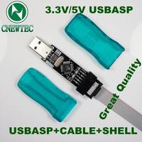 5V/3.3V 1pcs Great quality Shell New USBASP USBISP AVR Programmer USB ATMEGA8 ATMEGA128 Support Win7 64K