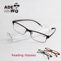Ultralight Frame Memory Led Reading Glasses Men TV&Computer oculos de grau  with Polycarbonate Lens