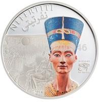 New*2013 Egypt Queen Nefertiti Silver Plated coin ,colored coins replica ,