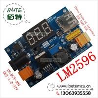 1pcs New LM2596 DC 4.5~40 to 1.25-37V Adjustable Step-Down Power Module + LED Voltmeter + USB port +2.54mm needle BTE13-001