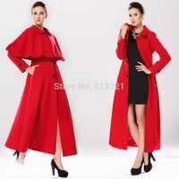 2014 new winter woolen coat,exclusive custom British style small cape coat slim long coat wool coat S-XL