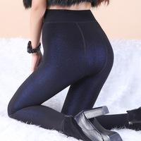 Sexy Slim Transparent color Thick Warm velvet Leggings For Women 2015 Autumn & Winter Hot Sale Skinny Elastic Otter plush Pants