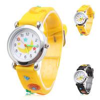 Cartoon Moon Silicone Analog Quartz Wrist Watch (Assorted Colors)