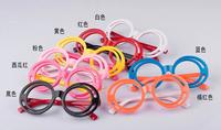 Free Shipping 2014 popular double circle children eyeglasses frame spectacles frames plastic frames eyewear korean glasses frame