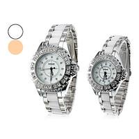Pair of Analog Alloy Quartz Couple's Wrist Watch (Assorted Colors)