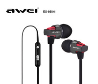 New Awei Stylish In-ear Earphone Metal Headset Stereo Music Clear Bass w/ Mic Headphones for iPhone Samsung LG Phone Tablet MP3