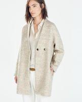 2014 Winter New Women's woollen coats Long Trench casacos femininos Overcoat  For Women Desigual Ladies' No Button Outwear coat
