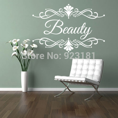 Custom business name wall art stickers decal diy home decoration wall