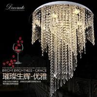 Free shipping New Modern spiral design flush mount K9 crystal chandeliers lighting fixtures Dia50*H55cm