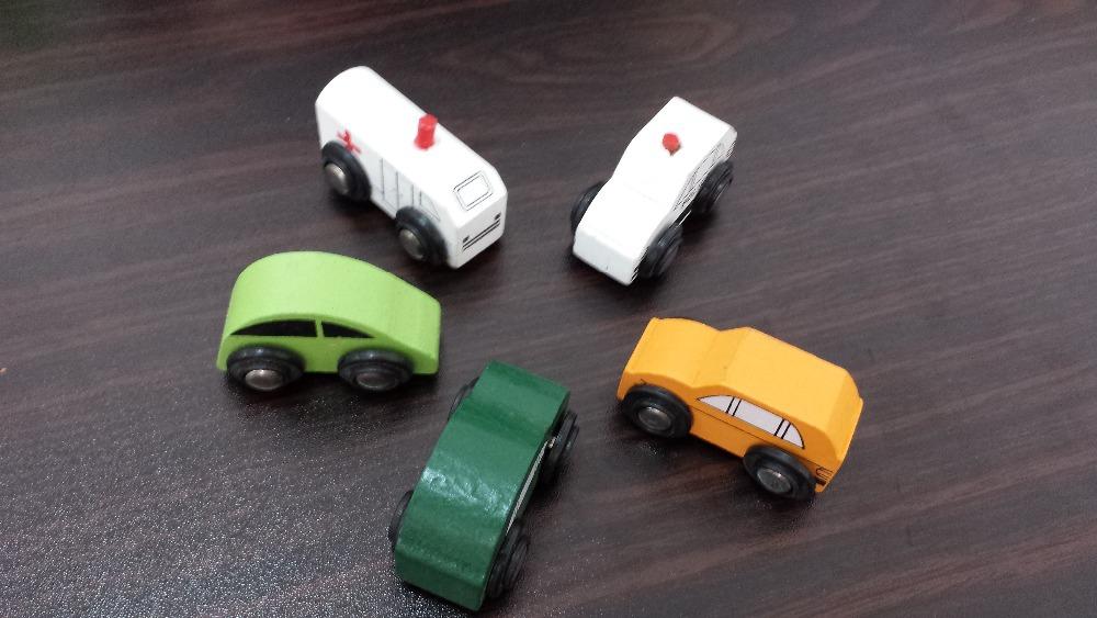 Mini Cars Wood Car 5pcs/lot wooden car, mini car model Children Education Wooden Toys, More Than $100 TNT Free Shipping(China (Mainland))
