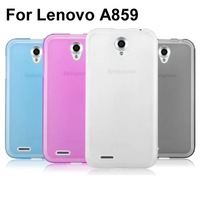Soft Transparent Jelly TPU Phone Case Cover For Lenovo A859 Case