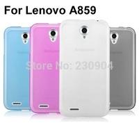 Soft Transparent Jelly TPU Phone Case Cover For Lenovo A859 Case