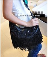 2014 New Hot Sale Women's Tassel Vintage Fringe Messenger Shoulder Bag Punk  Fashion Designer  Ladies' High Quality  Bag