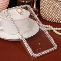 Bling Rhinestone Diamond Clear Back Case Luxury Cover Lenovo P780 A850 A390 A516 A630 A660 A690 A760 A820 A850 Free Shipping