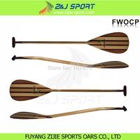 Chinese Bent Shaft wood Waveski Outrigger Canoe Paddle
