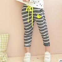 2014 Hitz's girls' trousers cotton grey children striped trousers GW608