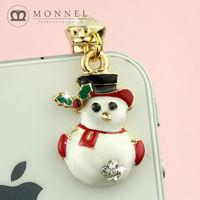 ip426b High Quality Hat Christmas Snowman Universal 3.5mm Dustproof Earphone Jack Plug Cap