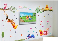 Details about Winnie The Pooh Wall Sticker Nursery Baby Room Decor Removable Vinyl decals HOT  3pc/set