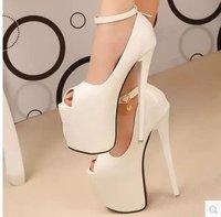 Size 34-38 19CM Sexy Lady Super High Heels Shoes/  Banquet Models Catwalk Waterproof Shoes5073  (ShoesToo Narrow)