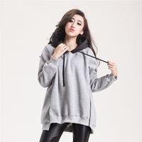 New Zipper Fashion Women Hooded Sweatshirt Loose Plus Size Feminine Hoodies Winter Outerwear Parka Coats Warm Women Pullovers