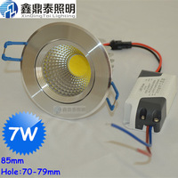 10pcs/lot Silver Color Recessed led downlight cob 7W 10W 15W dimming LED Spot light led ceiling lamp AC 110V 220V free shipping
