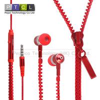 lanyard Zippers Fashion High Performance In Ear Headphones Earphones Headsets studio with Mic Drop Shipping