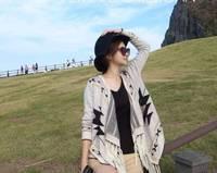 2014 new Spike  geometric  cardigan sweater coat female fashion