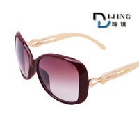 Free Shipping 7 colors women vintage oculos de sol Resin lens Newest cat eye Classic brand len box glasses sunglasses