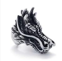 Free Shipping Men's ring, Dragon head type rings,  motorcycle rider ring
