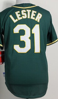 Cheap Sale,#31 Jon Lester Men's Green 2014 New Baseball Jerseys wholesale