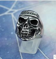 Free Shipping Men's ring  Skull Ring motorcycle rider ring