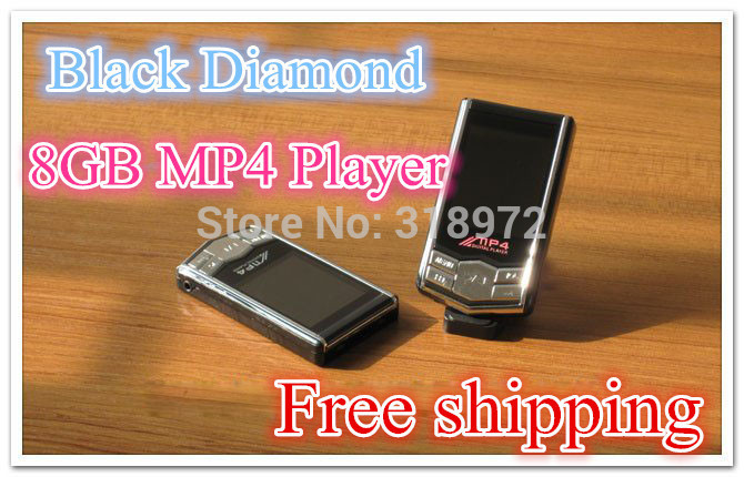 Fashion Really 8GB MP4 with touch screen FM flash mp4 player Add to Favorites Black Diamond MP3 with retail pack 100sets/lot(China (Mainland))