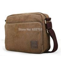 2014 Brown Vintage Canvas Men Crossbody Bags Shoulder Messenger Bag for Laptop Bolsa Free Shipping