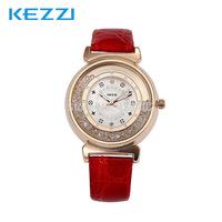 2014 Casual Cute Ladies Luxury Quartz Watches Waterproof Creative Quicksand Inlaid Rhinestone Leather Strap Ladies Wristwatches